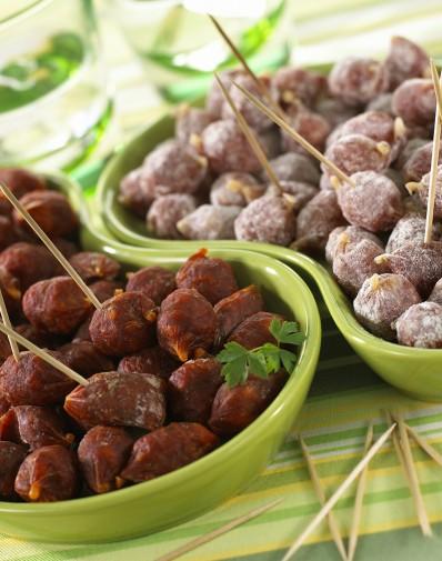 Bonbons saucissons (chorizo, saucisson parmesan, saucisson nature…)