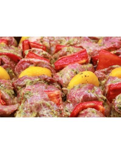 Brochette d'onglet de veau de Gascogne